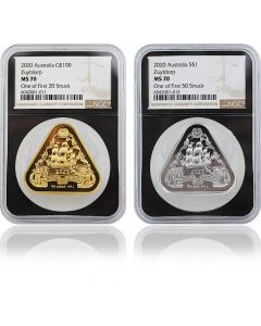 2020 1 oz Australian Shipwreck Series - Zuytdorp .Gold and Silver Coin Set (NGC MS70 First Strike)