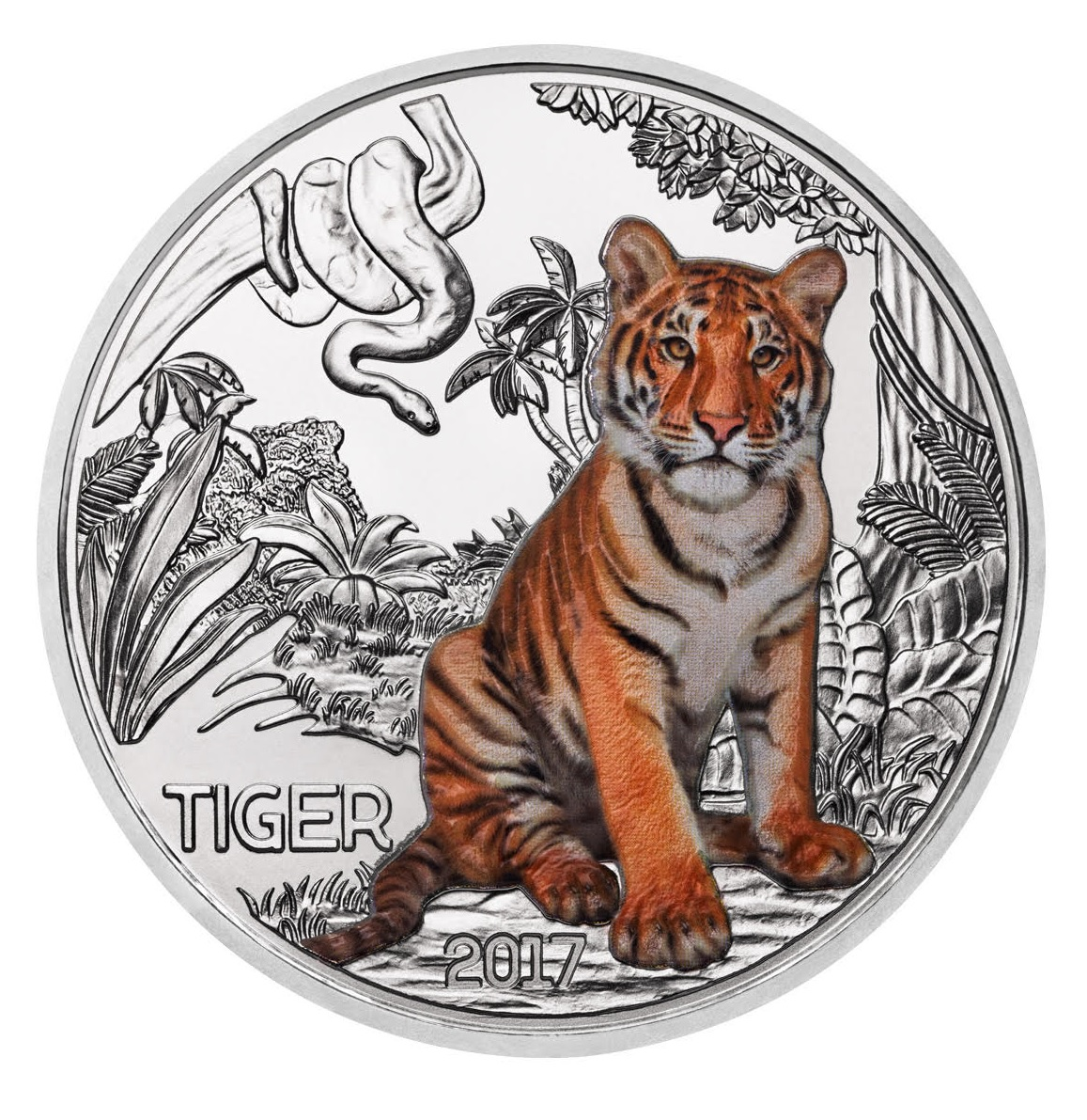 2017 16 Gram Austria Colourful Creatures The Tiger