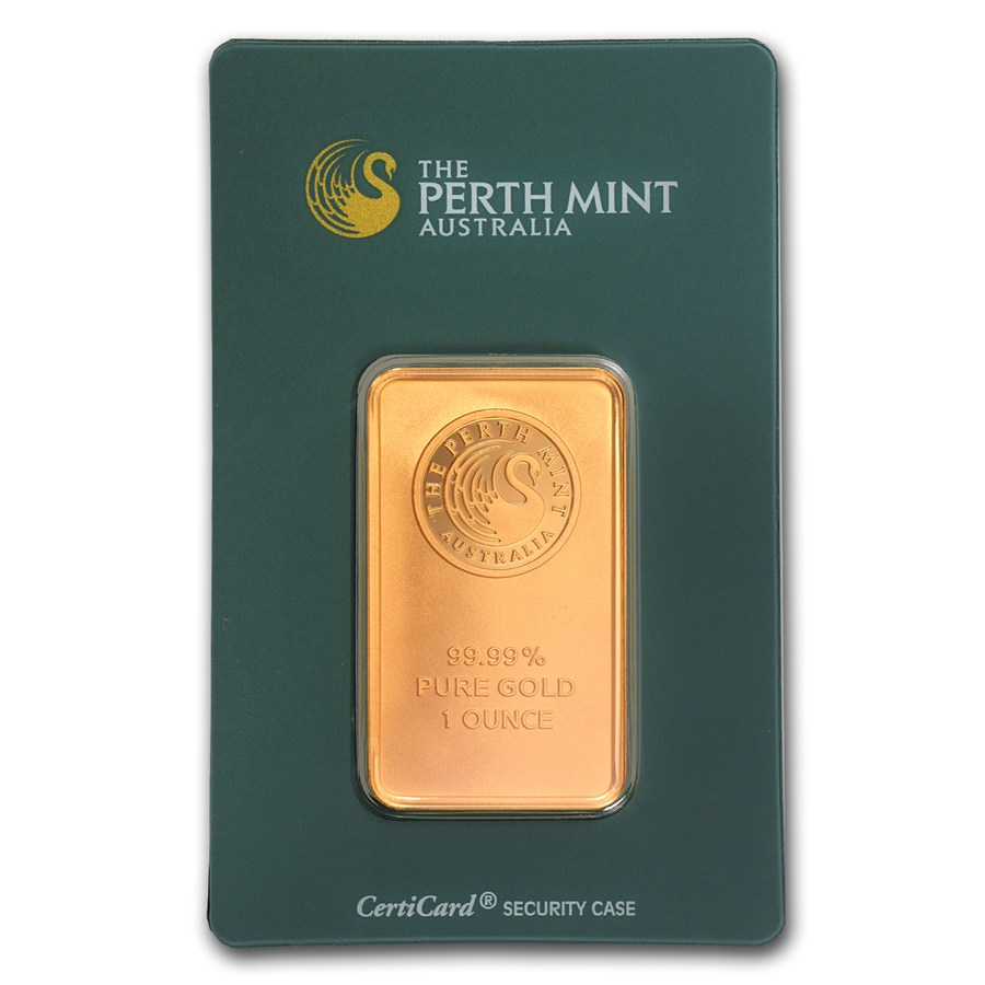 1 Oz Perth Mint 9999 Gold Bar In Assay Lpm
