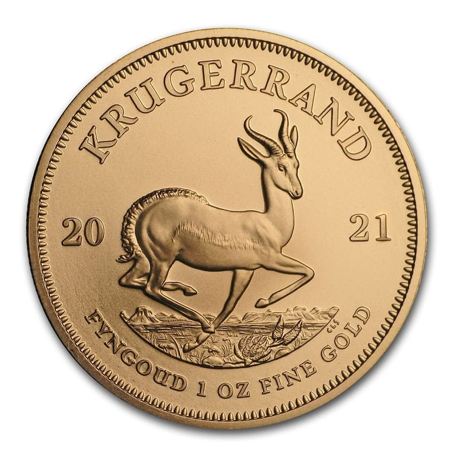 2021 1 oz South African Krugerrand .9167 Gold Coin BU