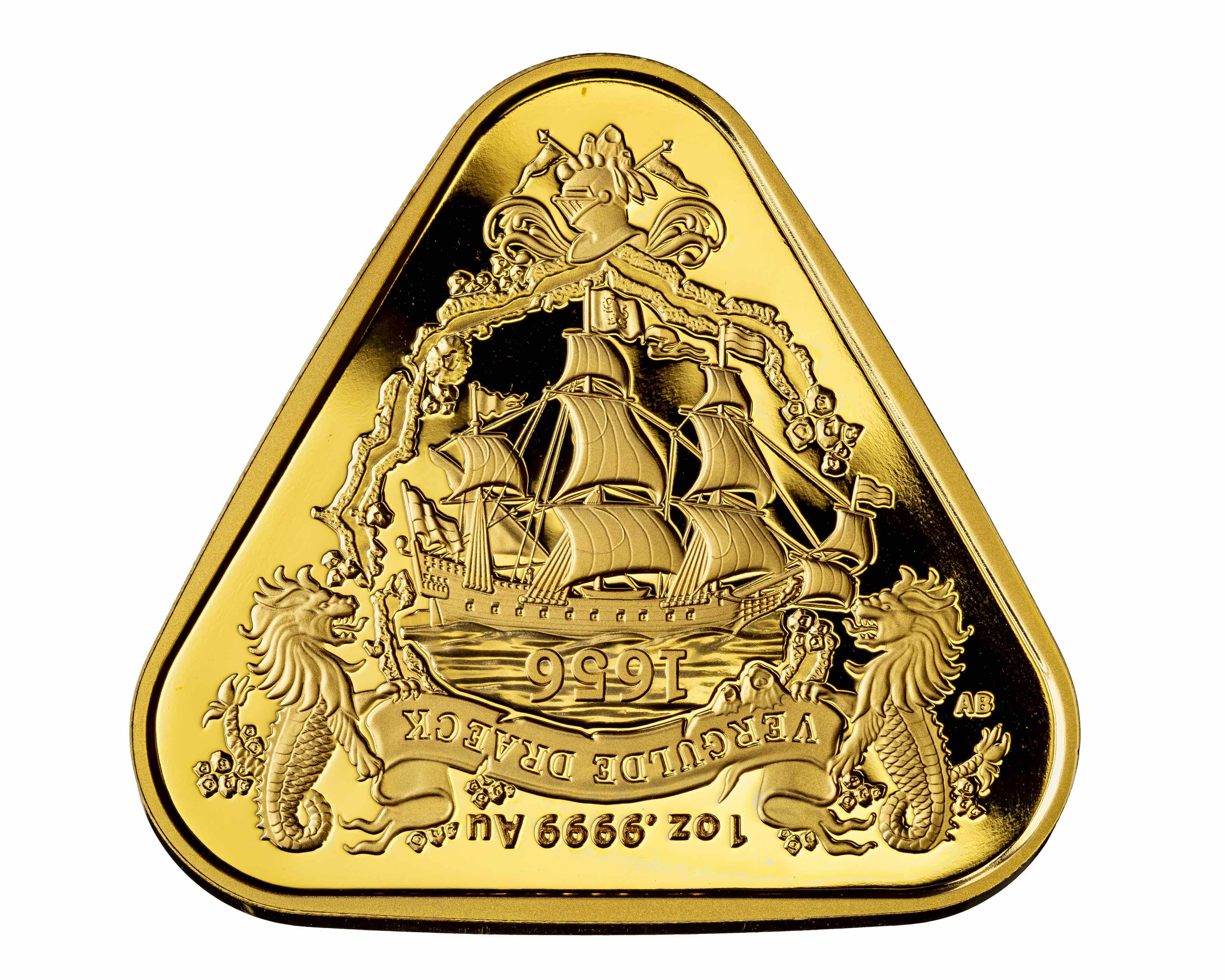2020 1 oz Australian Shipwreck Series - Vergulde Draeck (Gilt Dragon) .9999 Gold Coin BU