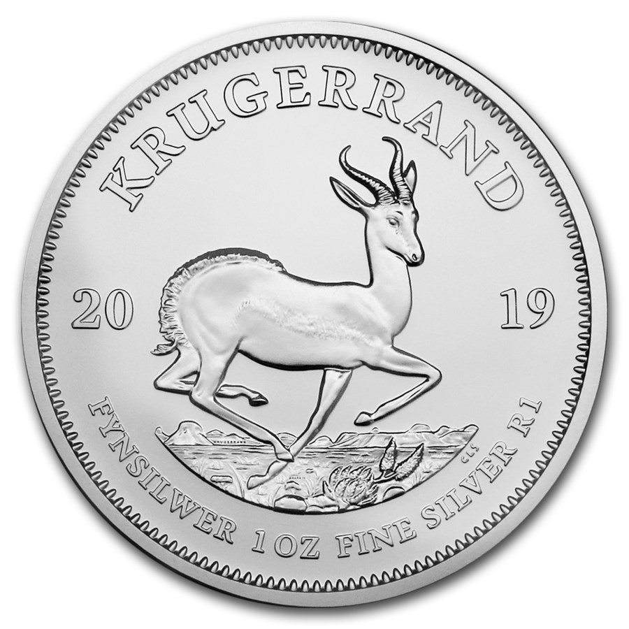 2019 1 oz South Africa Krugerrand .999 Silver Coin BU