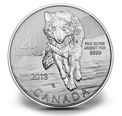 2013 1 4 Oz Canada Wolf 9999 Silver Proof Coin Lpm