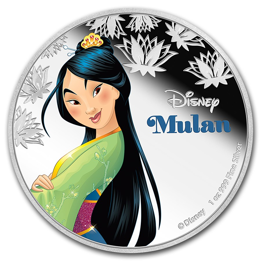2016 1oz Niue Disney Princesses Mulan 999 Silver Proof