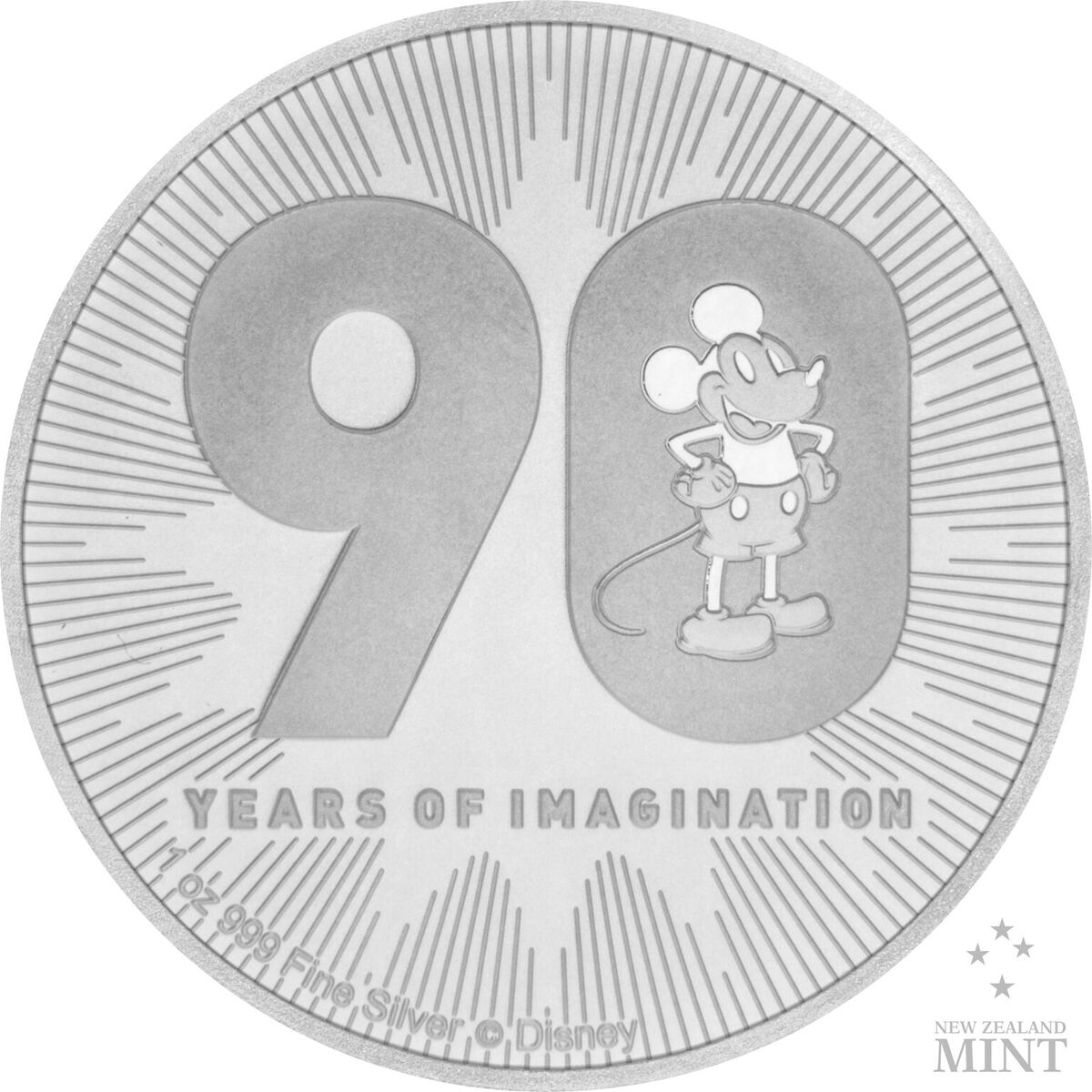 2018 1 Oz Niue Disney Mickey Mouse 90th Anniversary 999