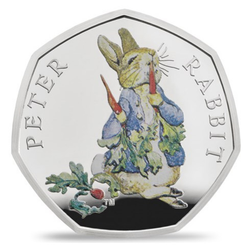 Peter Rabbit 2018 Britain Beatrix Potter 50p Silver Proof