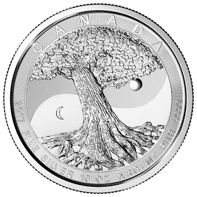 2017 10 Oz Canada Tree Of Life 9999 Silver Coin Lpm