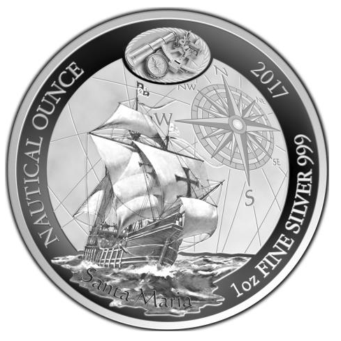 2017 1 Oz Rwanda Nautical Ounce Christopher Columbus