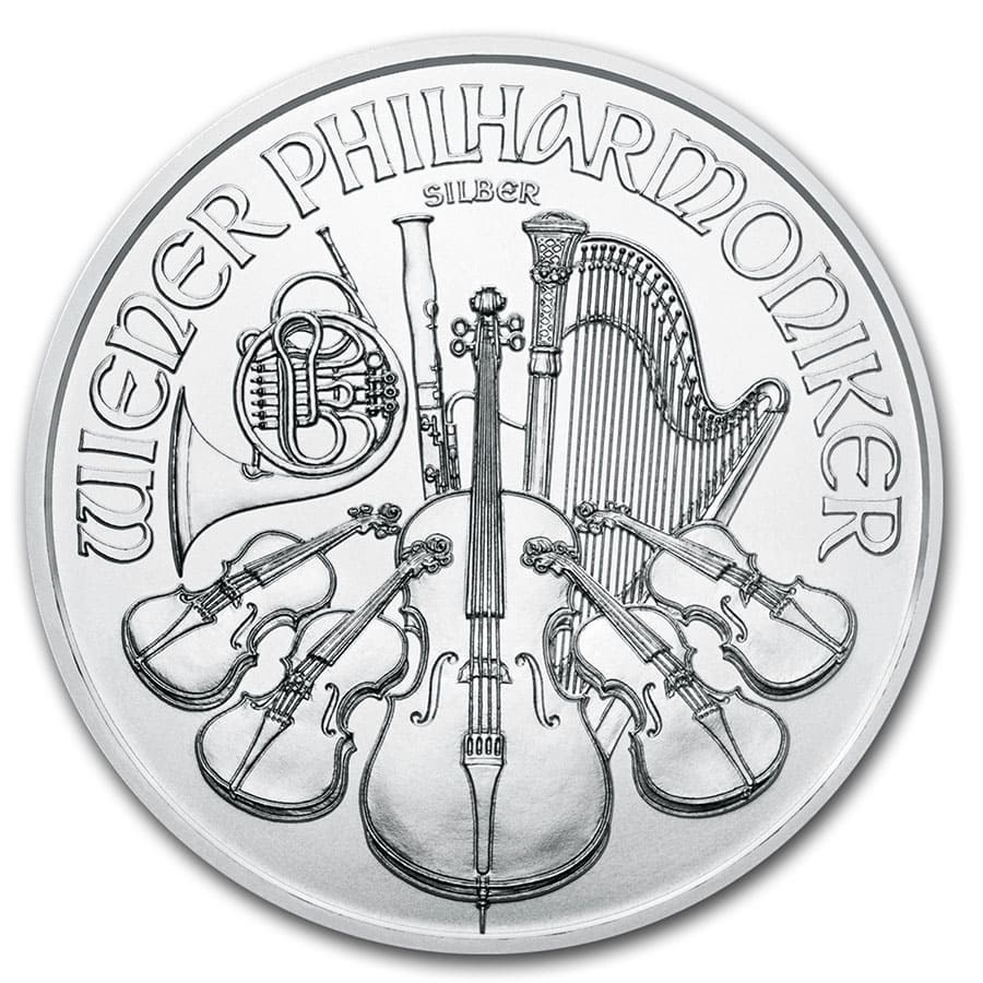 Lot of 3-2019 1.50 Euro Silver Austrian Philharmonic 1 oz Brilliant Uncirculat