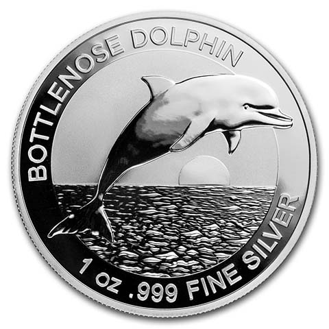 2020 Australia Dolphin Series The Spinner Dolphin 1 oz Silver Capsuled BU Coin