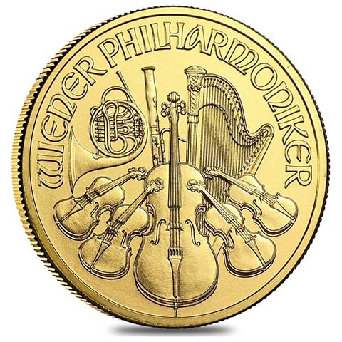 2019 1 oz Austria Philharmonic .9999 Gold Coin BU