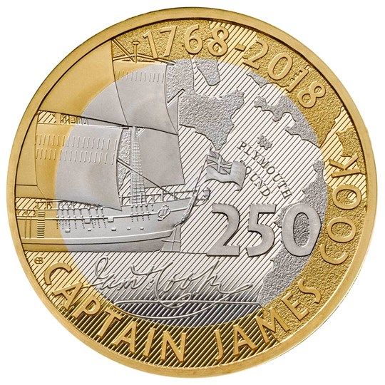 2018 12 Gram Great Britain Captain Cook 925 Silver Proof