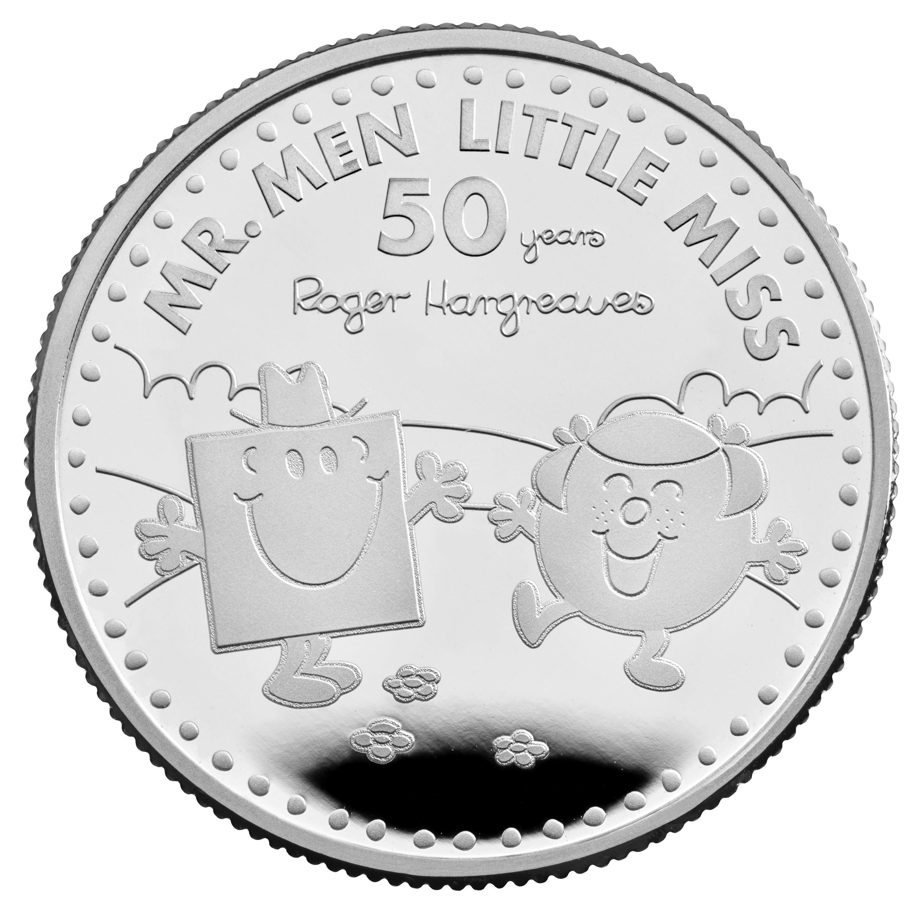 The 50th Anniversary of Mr. Men Little Miss Commemorative coins