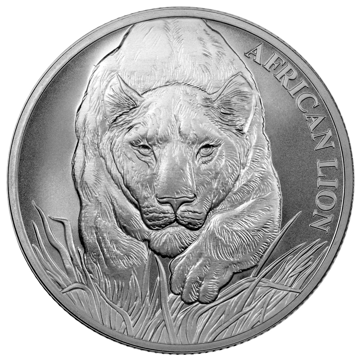 2017 1 Oz Republic Of Chad African Lion 999 Silver Coin