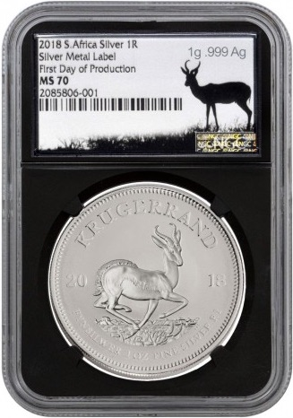2018 S.Africa Silver !R Silver Metal